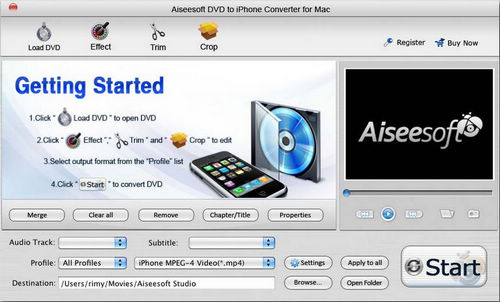 Mac DVD to iPhone MP4